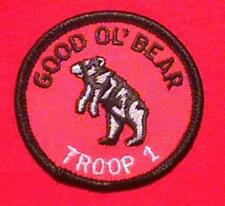 GOOD OL BEAR Round Patrol Patch Wood Badge Course Cub Boy Scout beads BSA