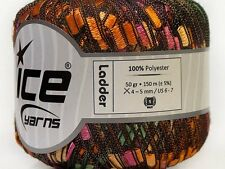 English Garden Ladder Yarn - Ice Green Orange Pink Yellow Trellis Ribbon 34030