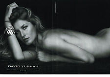PUBLICITE ADVERTISING  2013   DAVID  YURMAN  joaillier 2  ( 2 pages)