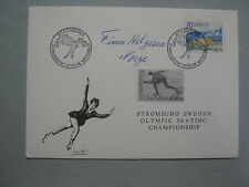 FINN  HELGESEN  1948 Olympic Gold/Norway (Died-2011) Signed 1976 First Day Cover