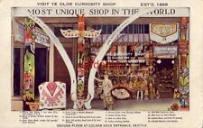 VISIT YE OLDE CURIOSITY SHOP, GROUND FLOOR AT COLMAN DOCK ENTRANCE, SEATTLE, WA.
