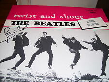 BEATLES-TWIST AND SHOUT-LP-NM-STER-CAPITOL 6000 SERIES-PETE BEST AUTOGRAPHED-COA