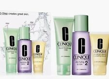 CLINIQUE 3 Step Dry Combination Skin Type 2 Liquid Facial Clarifying Lotion Set