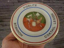 Beau cendrier Coktail LEGION (Légion Etrangère) - Fab. Demeuldre Bruxelles (B)