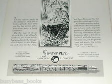 1929 Swan Pen advertisement, Fountain Pen African Explorer native