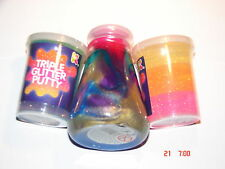 TRIPLE GLITTER PUTTY AND RAINBOW LAB GOO - 3 TUBS Childrens toy/ Gift/ Party bag