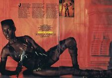COUPURE DE PRESSE CLIPPING 1984 GRACE JONES (2 pages)