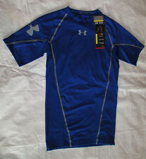 New Mens UNDER ARMOUR 2XL Royal Blue Polyester Football Compression Shirt NWT