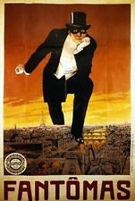 PHANTOM OF THE OPERA - VINTAGE POSTER 24x36 - FANTOMAS PARIS 36056