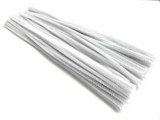 "New 200pc 12"" White Long Chenille (Pipe & Gun Cleaner) 6mm Stems"