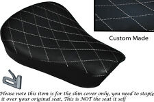 DIAMOND STITCH WHITE CUSTOM FITS HARLEY SPORTSTER 883 48 72 RIDER SEAT COVER