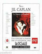 PUBLICITE ADVERTISING 116  1992   Jil Caplan concert la Cigale & radio Chérie FM