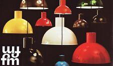 2 x FOG & MORUP 1970's MINI BUNKER Danish Pendant Lamp JO HAMMERBORG Light Gray