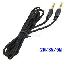 3.5mm Male to Male Jack Stereo Audio Extension Aux Cable FOR PC MP3 2M/6ft