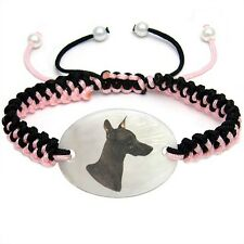 Inca Hairless Dog Mother Of Pearl Natural Shell Adjustable Knot Bracelet BS238