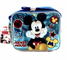 New Disney Mickey Mouse Blue Shine School Insulated Lunch Bag