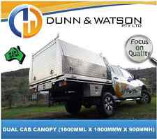 AUS MADE DUAL CAB ALUMINIUM UTE CANOPY, HEAPS OF OPTIONAL EXTRAS, 2YR WARRANTY