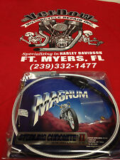 """HARLEY DAVIDSON MAGNUM STEERLING CHROME II IDLE CABLE +3"""""""