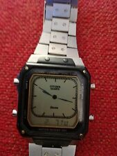 vintage citizen 9560--083873 Digi Dual Time Chrono Alarm Quartz LCD