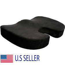 Orthopedic Coccyx Seat Cushion Foam Office Chair Pillow Truck Black Pad