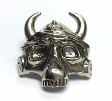Boy Scout Woggle Skeleton Viking Helmet Neckerchief Slide Item No.: WK68