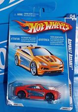 Hot Wheels 2010 Nightburnerz Series 100  Asphalt Assault Orange w/ J5s