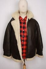 Really Great B-3 B3 Brown Shearling Air Force Bomber Pilot Flight Jacket M
