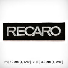New RECARO EMBROIDERED PATCH IRON ON or SEW Racing Sports Motor Top Car Decorate