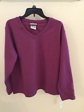 New Curves X LARGE Gym women Sweat Shirt  fitness Purple tags