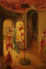 """Two Womens Happiness by R. Varo  20""""   Paper Print Repro"""
