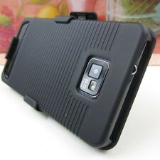 BLK Hard Impact Cover Case+Holster Samsung Galaxy S II 2 S2 Straight Talk S959G