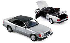 Mercedes Benz w124 e clase ce-24 Cabriolet Convertible plateado 1990 norev HQ rar 1:18