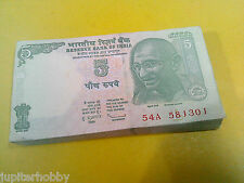 3 Notes -GANDHI - 5  Rupee India Bank Notes - GEM UNC   #ca- FREE SHIPPING