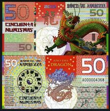 Kamberra, POLYMER, 50 Numismas, China Lunar Year, 2012, UNC Dragon