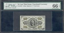 Fr1256 10¢ 3Rd Issue Fractional Currency Pmg Graded 66 Gem Unc Hv5370