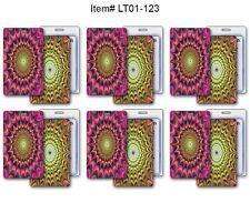 Luggage Bag Travel Tag Psychedelic SETof 6 Color-Change Lenticular #LT01-123#