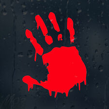 Bloody Hand Print Zombie Car Decal Vinyl Sticker For Panel Or Bumper Or Window