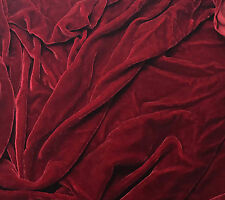Hand Dyed Silk VELVET Fabric GARNET RED - 1 yard