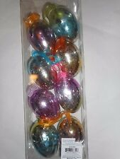 """8 Decorative Hanging Easter Egg Ornaments Multi Color 3"""" New"""