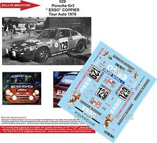 Decals 1/24 réf 629 Porsche Gr 3 Esso  COPPIER Tour Auto 1979