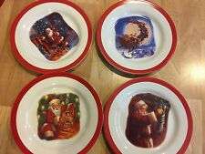 Pottery Barn Kids Christmas 'Twas The Night Before Christmas melamine plates S/4