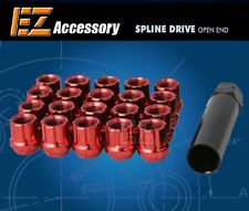 """20 Pc Set Open End Spline Drive Lug Nuts   Red   1/2""""   Ford Mustang Explorer"""