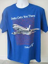 Delta Airlnes L-1011 Promo T-Shirt Size XL in Blue
