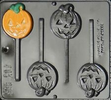 Pumpkin Jack O Lantern Lollipop Chocolate Candy Mold Halloween  928 NEW