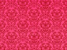 1/12 scale   Dolls House Wallpaper        Renaissance Red   PP142