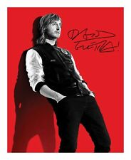 DAVID GUETTA SIGNED AUTOGRAPHED A4 PP PHOTO POSTER
