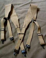 WWI US ARMY INFANTRY INFANTRY M1907 COMBAT FIELD EQUIPMENT SUSPENDERS-X TALL