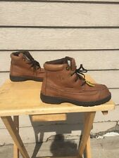 Women's 7 Georgia Boot Tan Leather Work Boots Steel Toe/Electrical Safety