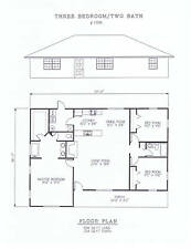 1596 square foot three bedroom house plan