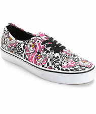 Authentic Vans X Disney CHESHIRE CAT Print Shoes ALICE Womens Size 10.5 NEW